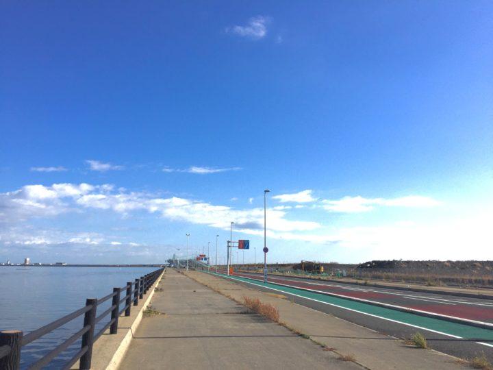 北九州空港までサイクリング