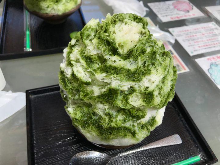 耶馬渓の蛍茶園カキ氷