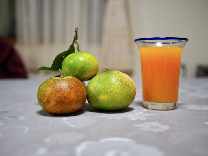 無農薬のみかんジュースは味が違う
