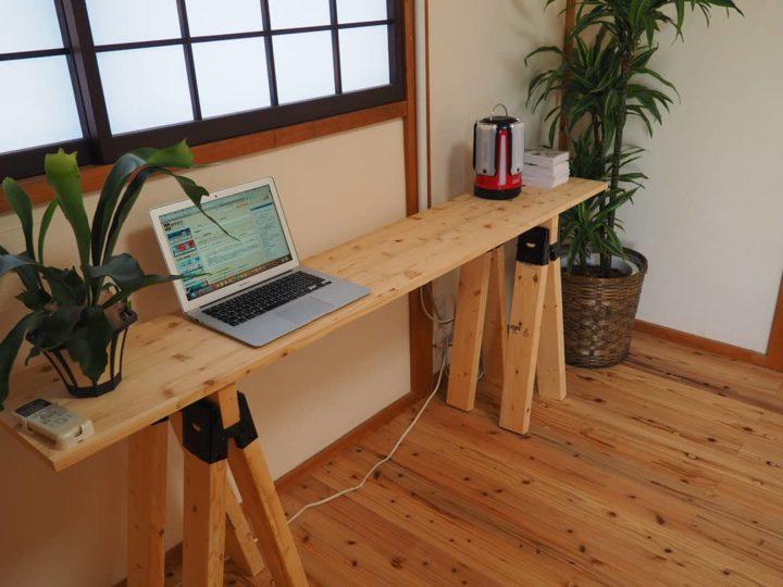 休憩室のテーブルをDIY