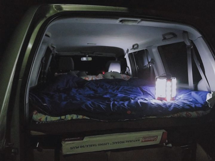 人生初の車中泊